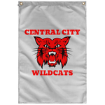 Central City Wildcats Vertical Wall Flag