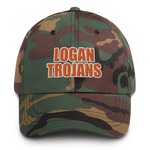 Logan Trojans Military Tribute Embroidered Dad Hat