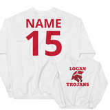 Customized Logan Trojans Unisex Sweatshirt (Front/Back)