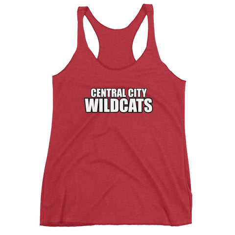 Central City Wildcats Women's Racerback Tank Top
