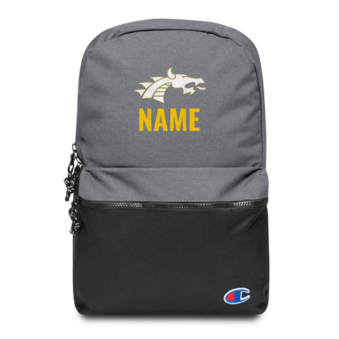 valley Falls Custom Name Embroidered Champion Backpack