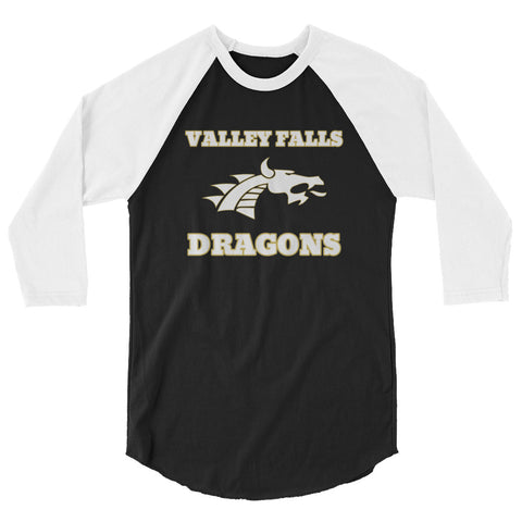 Valley Falls Unisex 3/4 Sleeve Raglan T-Shirt