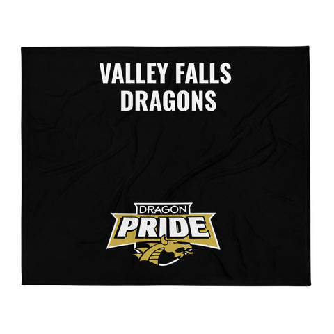 "Valley Falls Dragons 50"" x 60"" Throw Blanket"