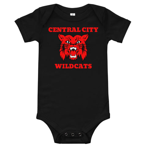 Central City Wildcats Unisex Baby One-Piece