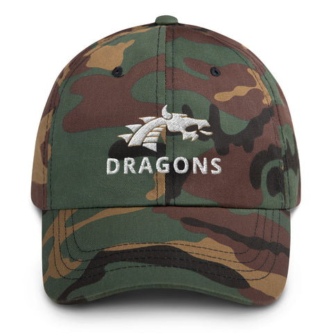 Valley Falls Dragons Military Tribute Embroidered Dad Hat