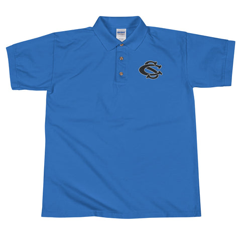 Central Springs Embroidered Polo Shirt - Blue