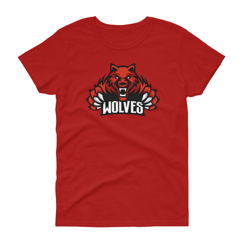 Lebo Wolves Women's Loose Crew T-Shirt