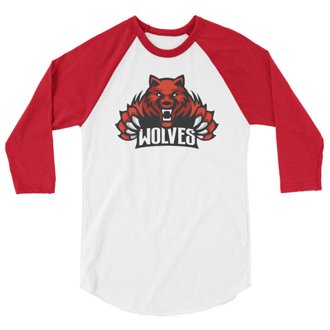 Lebo Wolves Unisex 3/4 Sleeve Baseball T-Shirt