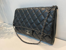 Load image into Gallery viewer, Authentic preowned Chanel clutch chain with black lambskin