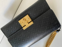 Load image into Gallery viewer, Gucci Padlock GG Medium Leather Shoulder Bag black with bee detail