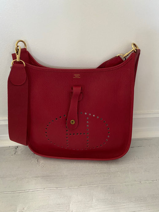 Authentic Pre-Loved Rubis Hermes Clemence Evelyne I PM
