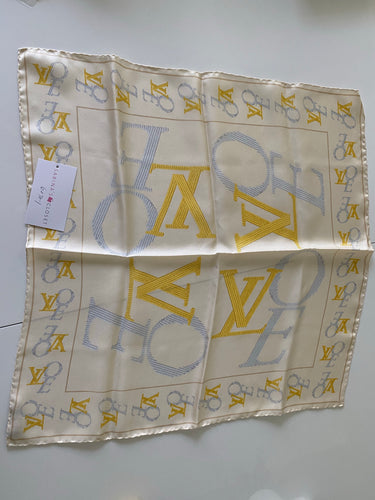 Authentic preowned Louis Vuitton silk logo scarf