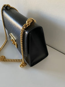Gucci Padlock GG Medium Leather Shoulder Bag black with bee detail