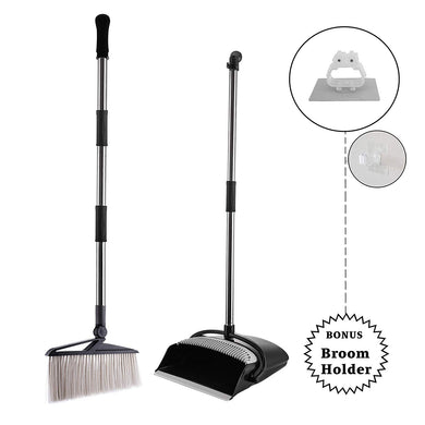 Broom and Dustpan Combo Set