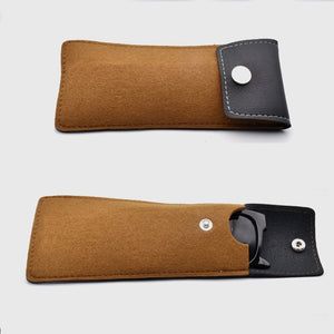 Lightweight Leather/Wool Glasses Case