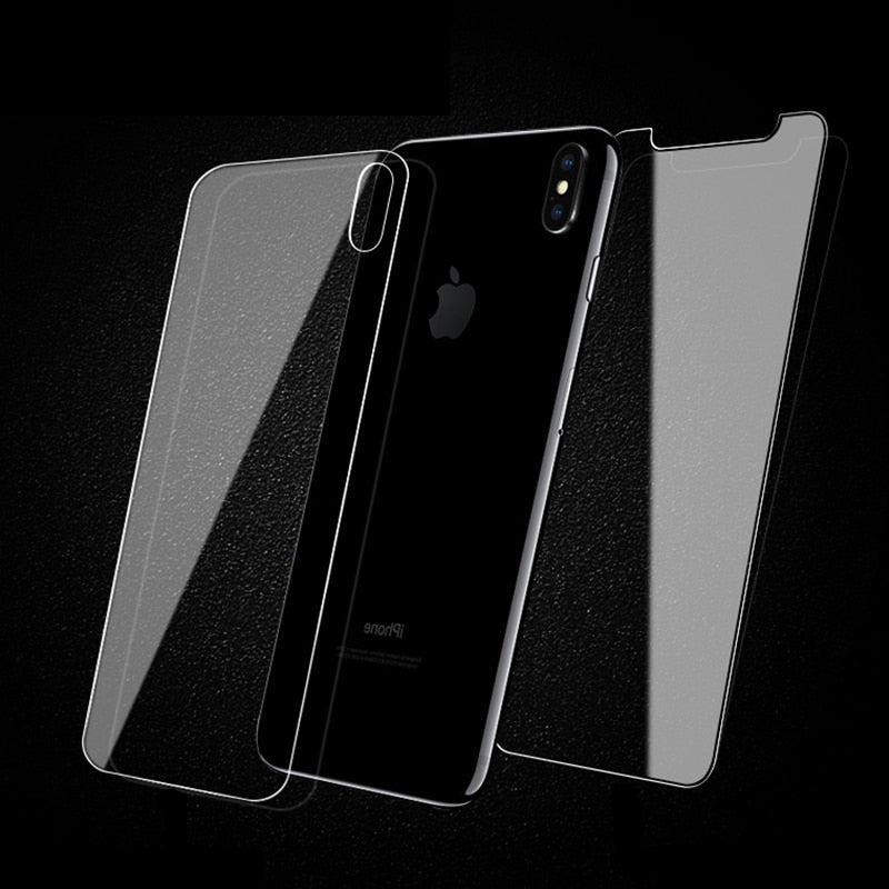 9H Front & Back Tempered Glass (iPhone 8+ to iPhone XS Max)