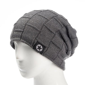 Fleece-Lined Knitted Wool Beanie