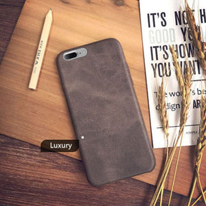 Vintage-Style Leather iPhone Case (iPhone 8 to iPhone XS)