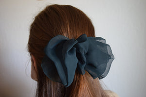 Chiffon Forest Hair Bow Barrette