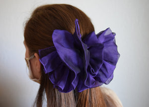 Ruffled Purple Barrette