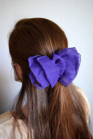 Purple Bow Barrette