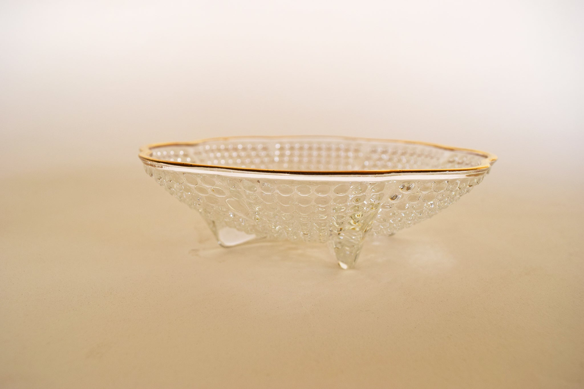 Beaded Glass Candy Dish