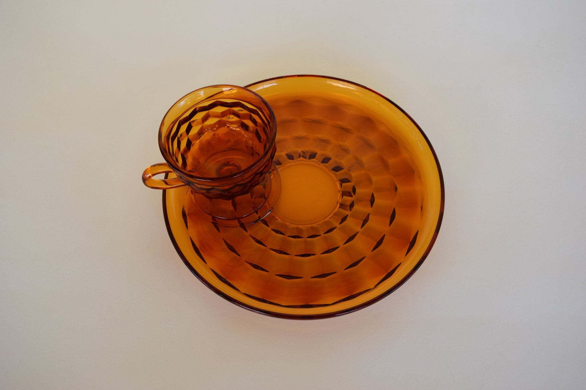 Amber Cup & Plate Set