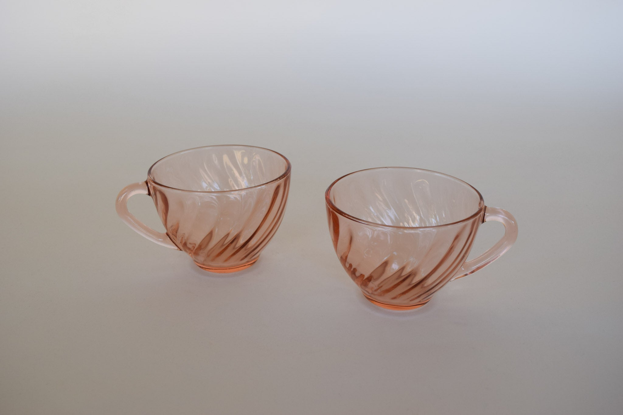 French Rosaline Glass Cup Duo