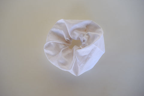 Raw Ivory Silk Scrunchie