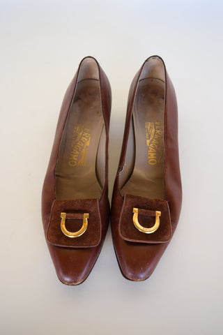 Ferragamo Buckle Pumps