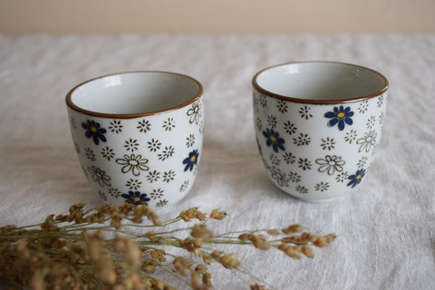 Floral Tea Cup Duo