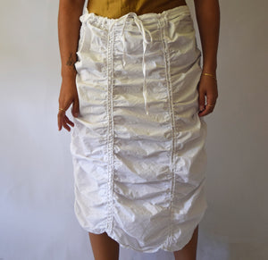 Cotton Scrunched Maxi Skirt