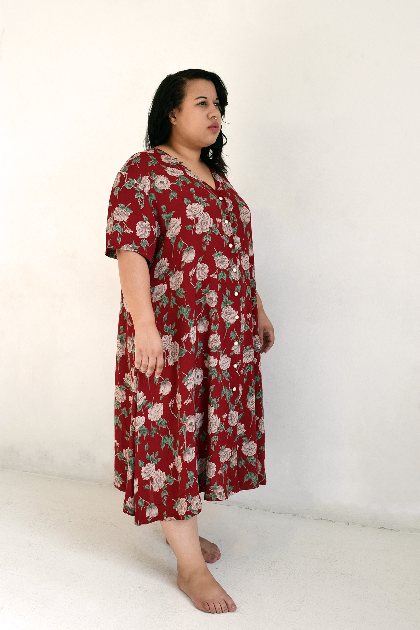 Carina Dress Floral Red