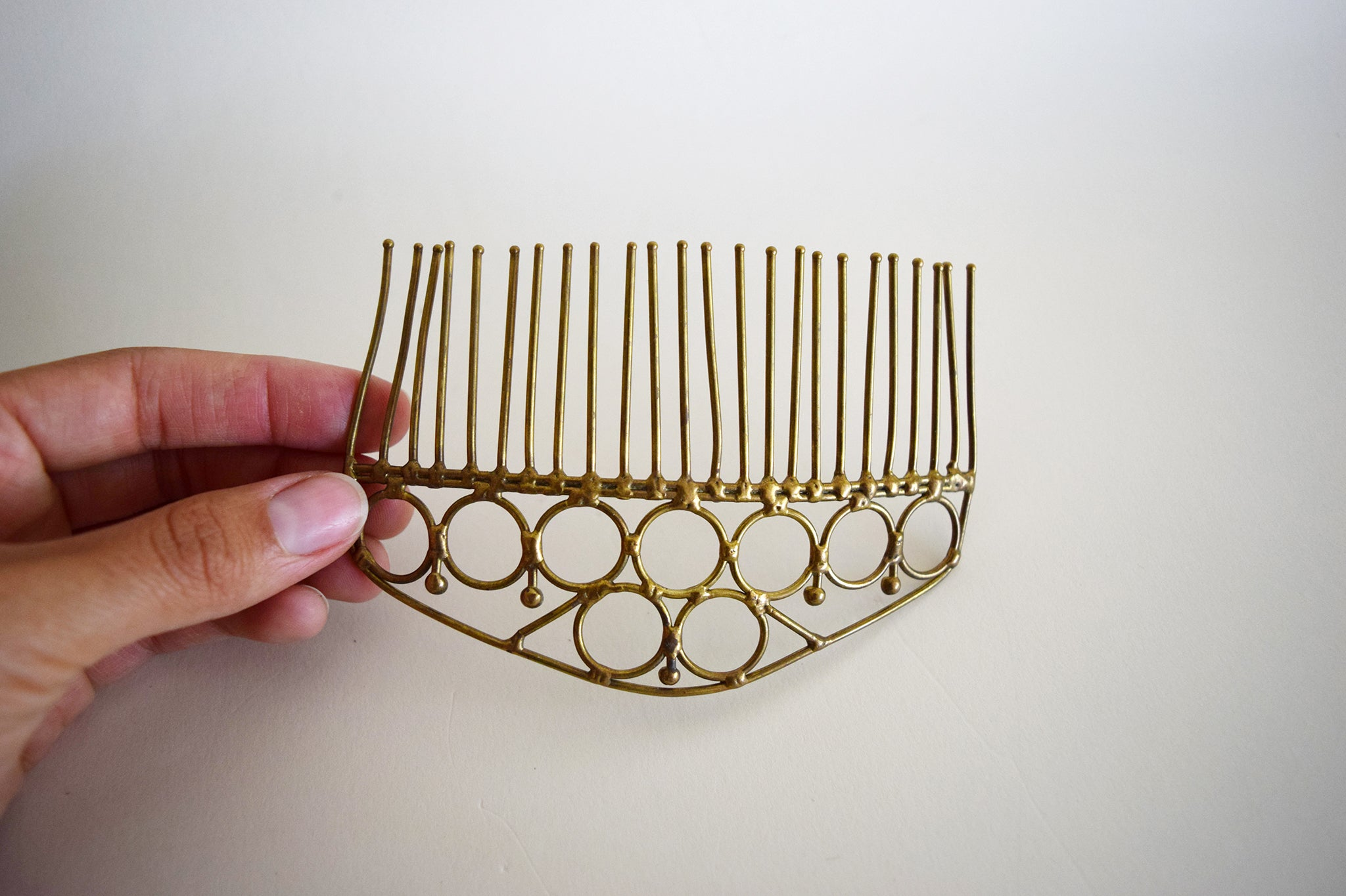 Vintage Brass Hair Comb