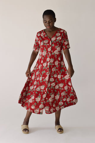 Carina Dress Red Floral