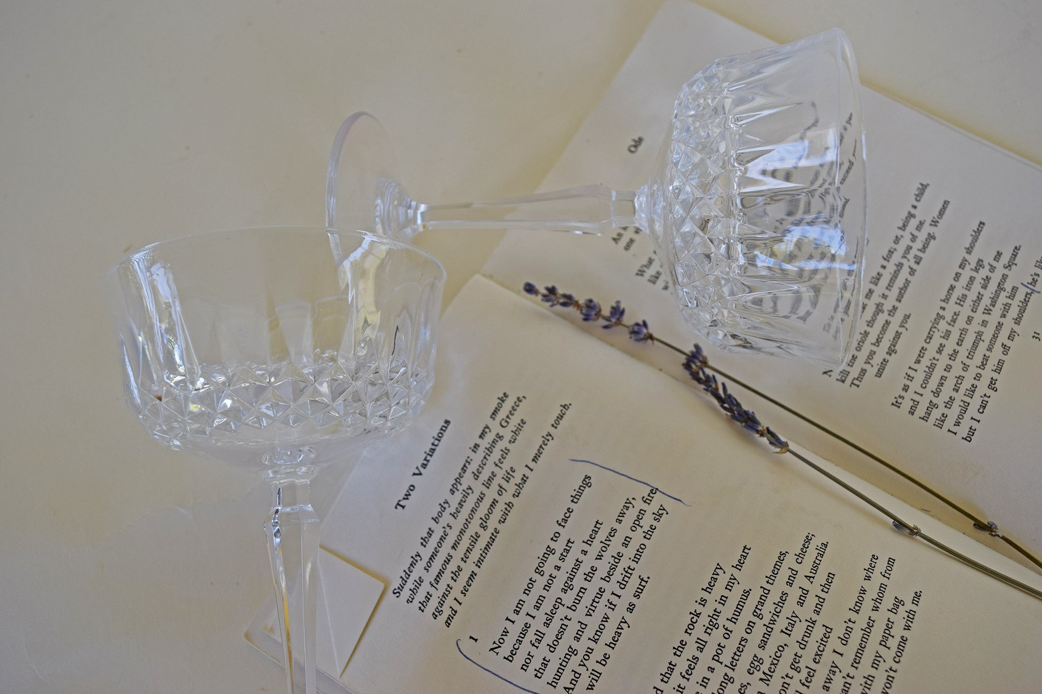 Art Deco Crystal Goblets