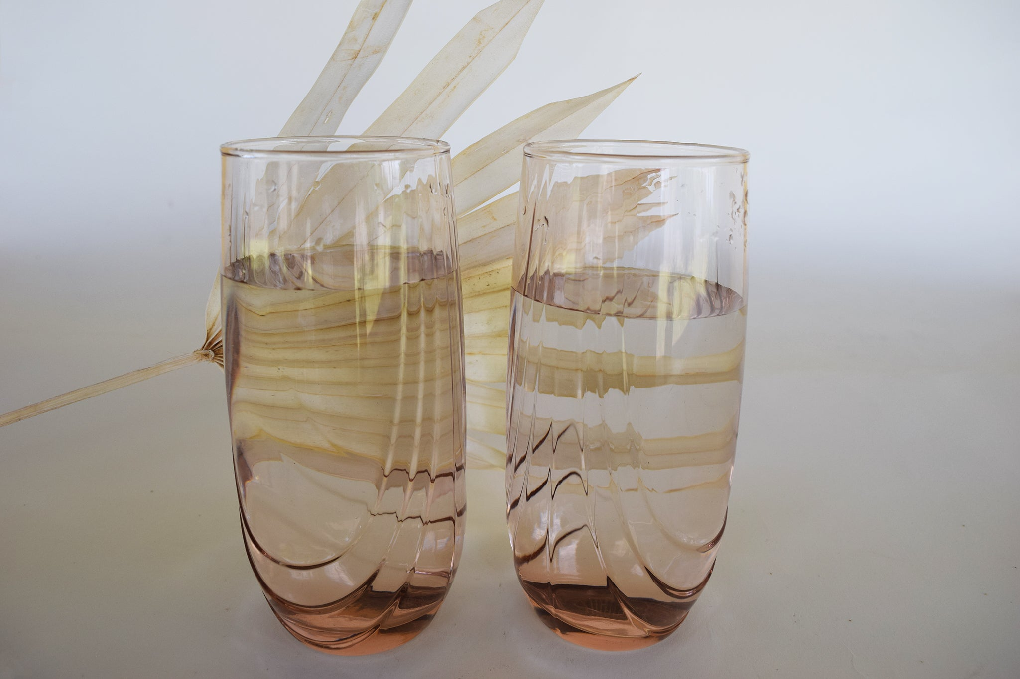 French Pink Drinking Glasses