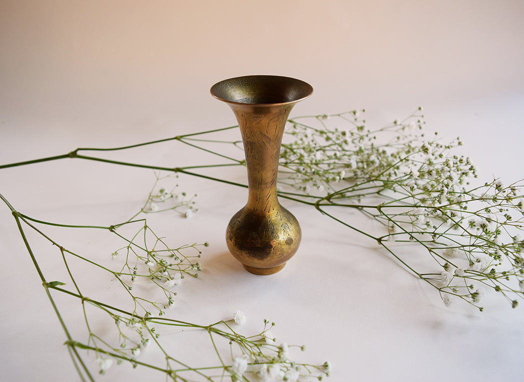 Small Solid Brass Vase
