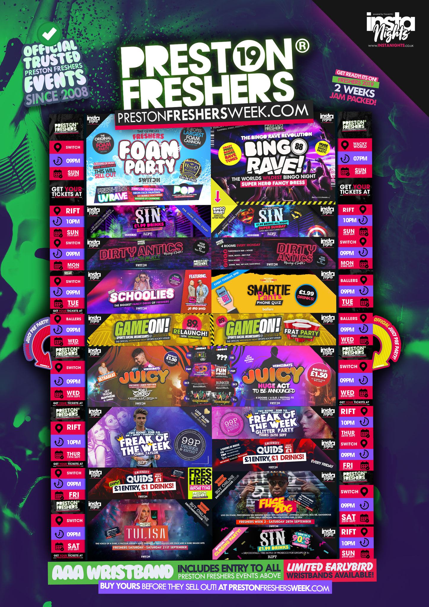 Preston Freshers Wristband