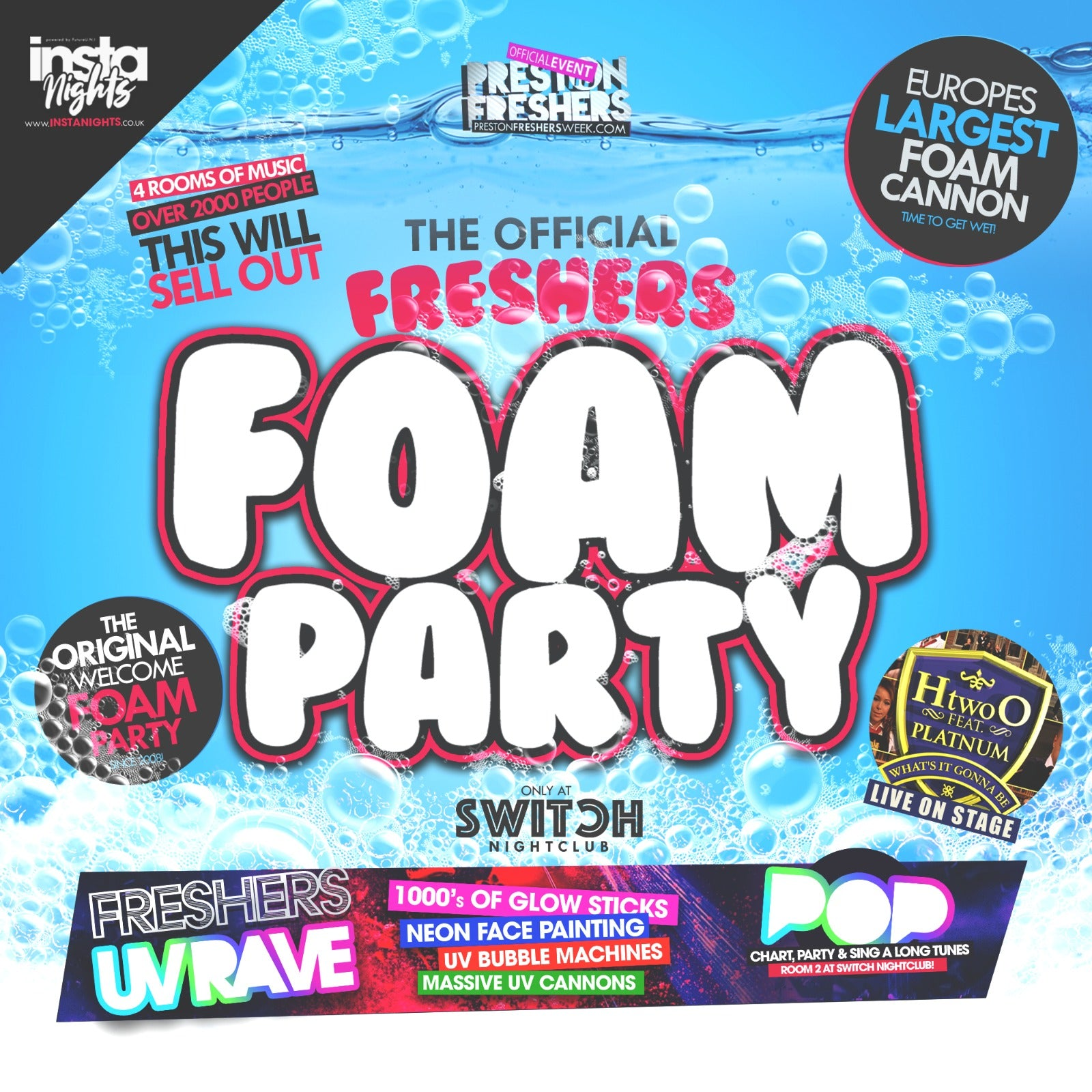 Freshers Foam Party ft H two 0 Platnum - 15th Sep