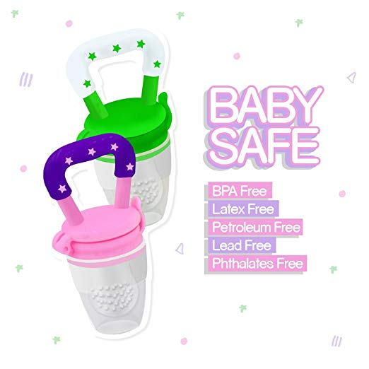 Portable Infant Food Feeder and Pacifier