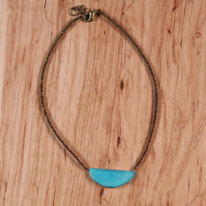 Luna Necklace - Aqua