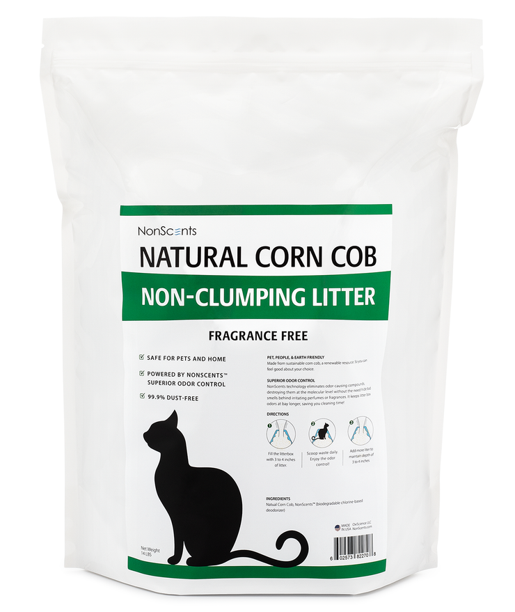 Natural Corn Non-Clumping Cat Litter  (11 Pounds)