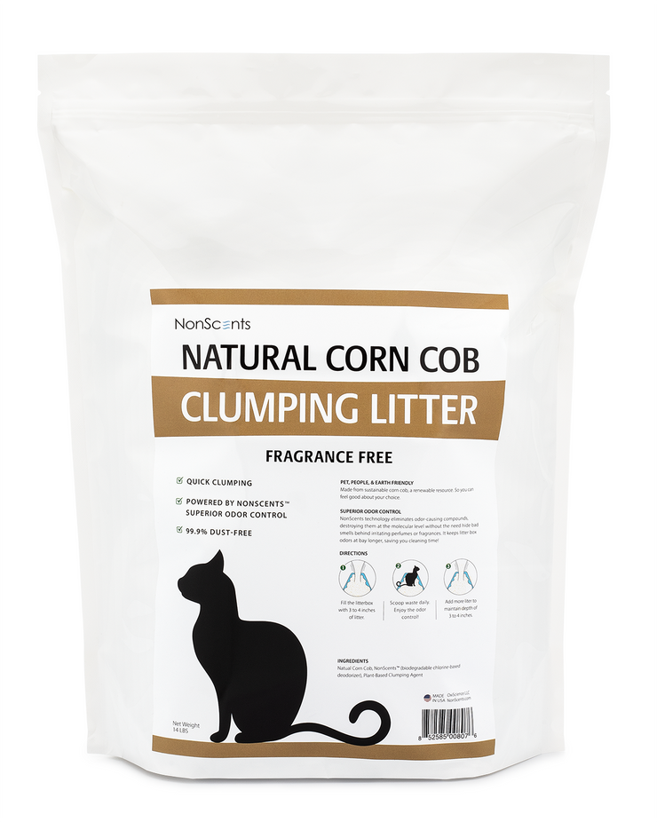 Natural Corn Cob Clumping Cat Litter (14 Pounds)