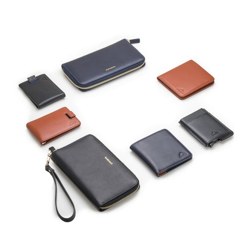 K2 leather wallets slim mens and womens
