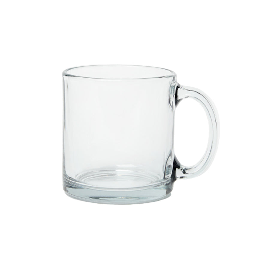 Straight Wall Glass Mug - 13oz