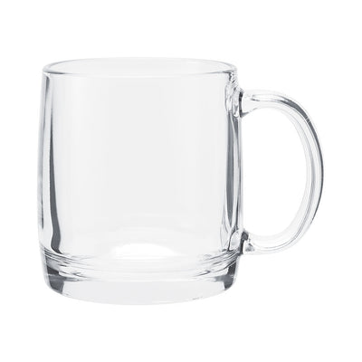 Glass Coffee Mug - 13oz