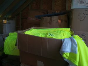 Send a box of 75  Race Tees to Calais and the Refugee Camps