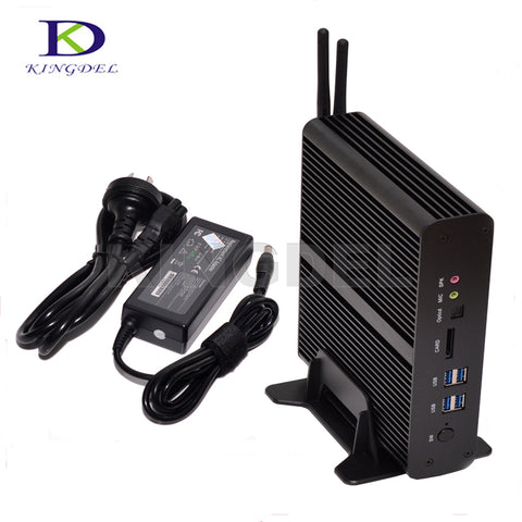 Kingdel Fanless Micro PC Mini Computer