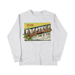 GREATEST TIME OF YEAR GREY LONGSLEEVE